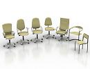 3D модель  офисные кресла