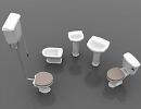 3D модель Набор сантехники
