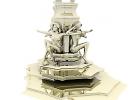 3D модель  скульптура из 4 дев