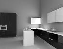 3D модель  современная кухня