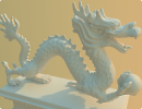 """3D модель  Статуэтка """"Китайский дракон"""""""