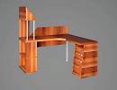 3D модель  стол секретаря