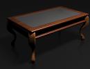 3D модель  Стол со стеклянной поверхностью