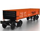 3D модель Вагон грузовой