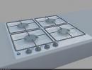 3D модель встраиваемая газовая плита